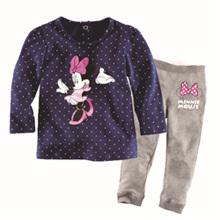 retail 2-7T girls minnie pajamas clothing sets children outerwear(China (Mainland))