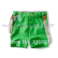 Retail (2-7Y) kids strap twill shorts children clothes za boy cotton burmudas shorts with suspender Free shipping