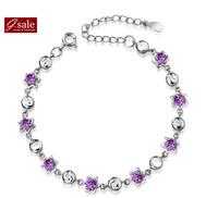 GS brand SL-31 Bracelets for women 2014 five stars fashion 925 sterling silver jewelry vintage charm bracelets Bangles