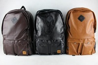high quality school  waterproof backpack , leather daily backpack for man and women # b -01
