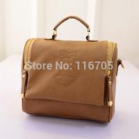 2014 New Hot  Sale Vintage Preppy Style Leather Women's Handbag High Quality Fashion Bag Tote Shoulder Stamp Messenger Bags