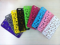 Wholesale Price 100pcs/lot Bird Nest Style Net Plastic Hard Case Cover for iPhone 5C DHL Free shipping