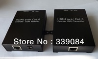 Free shipping,  single cat6/7,100m HDMI Extender, support CEC&HDCP,Full HD 1080P