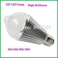 Indoor Human Sensor Light Warm Light Ball LED Bulb 4W,High Quality aluminum alloy sensor bulb