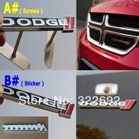 For DODGE JCUV Journey Front Grill Grille 3D Metal Head Badge Emblem & Whole Body Sticker  Metal (1pc)  - Free shipping
