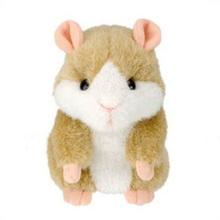 Hot Cute Speak Talking Sound Record Hamster Talking Plush Toy Animal T0256(China (Mainland))