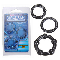 3Pcs/lot Men Use Penis Ring Sexy Aid Toy Products Adult Game Tool Kit Black Clear Color