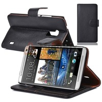 LEATHER FLIP CASE COVER FOR HTC ONE MAX T6