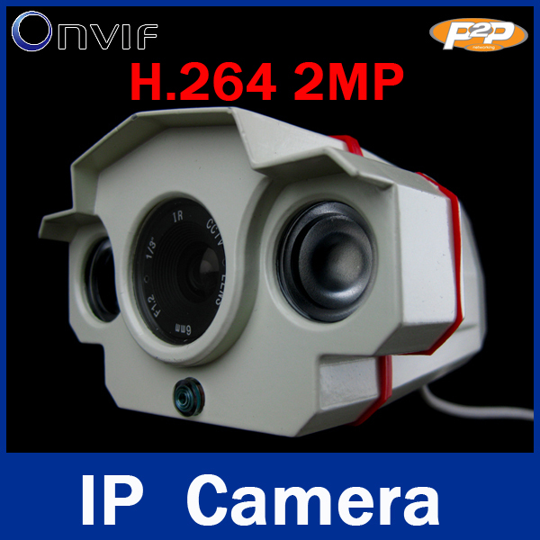ONVIF CCTV H.264 2.0 Megapixel 1920*1080 1080P 6MM IP Network Outdoor Waterproof 2 Array IR LEDs Night Vision Security IR Camera(China (Mainland))