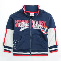 Free shipping 5pcs/lot 18m~6y boy spring autumn cotton embroidery cartoon kids zipper jacket coat
