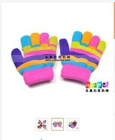 Baby Personalized Fingers Gloves 1pc Fashion Rainbow Children Mixed Colors Glove Free Shipping CL01791