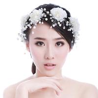 Colour bride rose handmade hair accessory hairpin pearl rhinestone hair accessory the wedding hair accessory wedding accessories