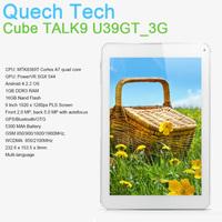 "9"" 3G WCDMA SIM Slot Tablet Phone Call CUBE TALK9 U39GT MTK8389T Quad Core Android 4.2 GPS 1GB 16GB  2MP/5MP Free Shipping"