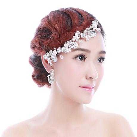 Colour bride hair accessory stubbiness rhinestone comb wedding hair accessory pearl marriage accessories