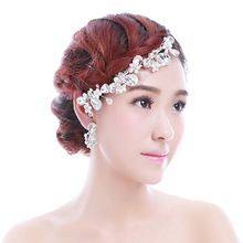 Colour bride hair accessory stubbiness rhinestone comb wedding hair accessory pearl marriage accessories