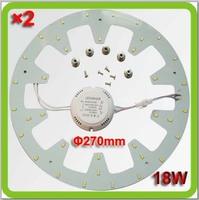 2015 novelty 110V 120V 220V 230V 240V Dia270mm 1800lm 18W led circular panel led round techo del LED replace 40w old 2D tube
