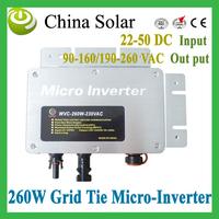 2014 New Arrival Solar Micro-Inverter Grid Tie,water proof IP65, wide voltage input 22-50V,pure sine wave inverter