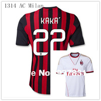 TOP Thai Quality AC Milan Home away ibrahimovic jersey 13 14 KAKA Balotelli Shaarawy Robinho Emanuelson Montolivo  Football kit