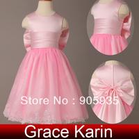 Free Shipping!Princess Grace Karin Bowknot Sleeveless Satin Organza Flower Girl Bridesmaid Wedding Pageant Evening Party CL4836