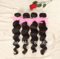 100% unprocessed Peruvian virgin Queen human hair weave products loose wave Grade 5A remy weft free shipping on sale 4pcs lot