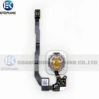 Repair Parts For Apple iphone 5S OEM Home flex + Home Button  Key Flex Cable complete replacement