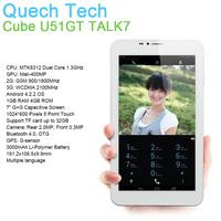 "Tablet Phone Call CUBE TALK7X U51GT MTK8312 W Dual Core Android 4.2 OS GPS 1GB 16GB 7"" 3G WCDMA SIM Slot Bluetooth Free Shipping"