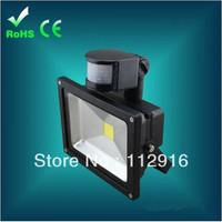 10pcs/lot 10W 20W 30W 50W Cool White LED PIR Motion Sensor Outdoor floodLight Spotlight Waterproof led projector free shipping