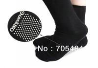 Freeshipping 2pair(4pcs) Magnetic Therapy  tourmaline Spontaneous self-Heating socks tourmaline foot massage socks foot massage