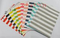 NEW HOT 11colors for choice Sailor stripe Party paper bag printed kraft bag foodgrade paper favor bags 200pcs