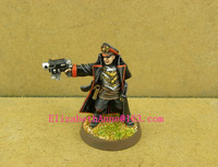 Free Shipping 40K models Imperial Guard Commissar with Bolt Pistol(Metal Models)