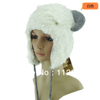 Free Shipping Super Popular  High Quality Brand Animal  Adult Sheep Plush Bomber Hat