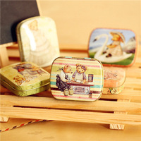 Freeshipping!5style Cartoon Bear tin Storage box/ zakka Kit box&Jewelry box&Sewing box/Storage Case,average 5pc/lot TZ09