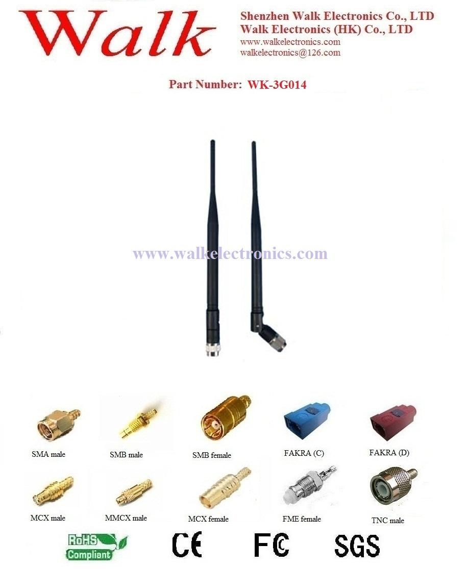 GSM 3G Antenna: Rubber antenna, SMA male straight, rotatable(China (Mainland))