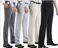 Summer Fashion Men casual Business Classic Pant Thin Linen Trousers Full Length/Hot Sell Size:28-44 4 Colors High Quality