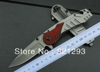 free shipping browning X13 knife wood and steel handle/carbon fiber handle 210mm total lenght
