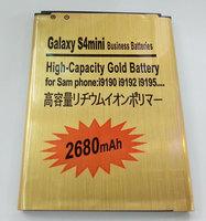 Galaxy s4 Mini 2680mAh  GOLD BATERY  for i9190 i9192 i9195 i9198   High Quality High Capacity High-standby FOR SAMSUNG PHONE