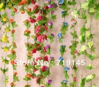 20PCS 2.5M 6colors available artificial rose camellia flower vine home garden for home wedding decoration