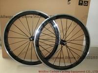 2014 New Road Bike Black 50MM FFWD complete Carbon fiber wheels/wheelset+alloy brake surface