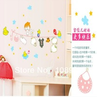 Nursery wall decal Love cartoon Bird kid vinyl children decor birds customized for home wall sticker