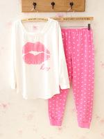 Hot Explosion models PINK casual female Pyjamas female winter long-sleeved tracksuit trousers cotton pajamas Pyjamas Women