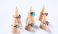 6pcs NEW Hinoki Wood Japanese style Finger Ring Display Holder Stand Rack Display Jewelry