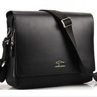 Promotion New Kangaroo 2015 fashion leather men's shoulder bag,men messenger bags, man IPAD bag handbag husband gift