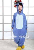 Kids blue stitch   onesies Pyjamas Cartoon Animal Cosplay Costume Pajamas Kids Onesies Sleepwear Halloween