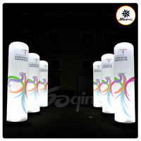 Hot selling!!! Customized Inflatable Lighting holiday  Decoration Column with logo and blower (BMDL338)