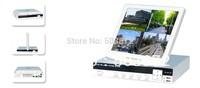 free shipping H.264 LCD DVR 4ch HDMI VGA 3G WIFI P2P free sofTware  full D1 DVR3004