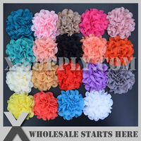 Free Shipping Hollow Vintage Chiffon Flowers 19 colors mixed for Baby Headband Accessories
