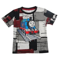 fashion nova kids wear boys t shirt kids' cartoon t-shirt whit printing thomas train summer cotton children's clothes