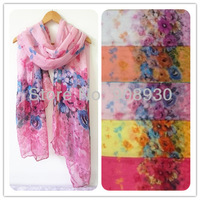 Fashion Sweet Rose Flower Hijab/Scarf Shawl For Women Beautiful Design Romantic Apperal & accessories Free shipping
