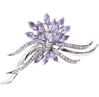 FREE SHIPPING FLOWER SHAPE CHAMPAGNE STONE BROOCHES CRYSTAL BROOCHES JEWELRY