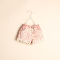 wholesale pink on the goods Hangpai local factory girls fashion lace shorts wholesale children's clothing 5pcs/lot D041604